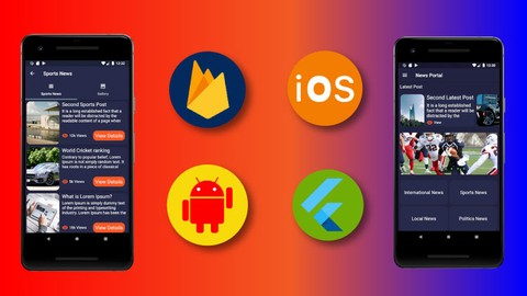 Flutter News Portal App-Firestore Backend(Android&ios App)