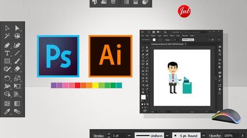 Mahir Tanpa Guru: Desain Grafis Photoshop dan Illustrator