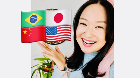 4 Languages! Learn Chinese mandarin Portuguese Japanese