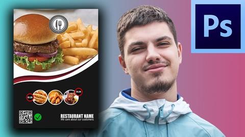 Create a Restaurant Flyer Design In Photoshop