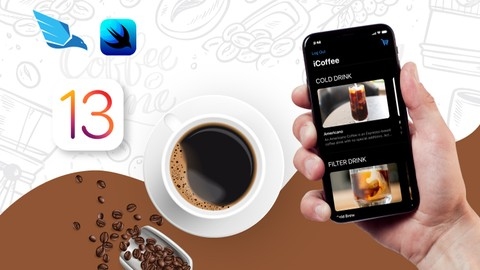 SwiftUI iOS13 Coffee Shop Application, Order Products Online