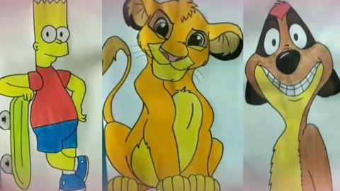 How to draw cartoon characters ?