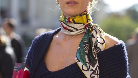 Fashion Design · How To Tie A Scarf Like A True Français