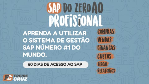 SAP - do Zero ao Profissional + 60 dias de acesso ao SAP.