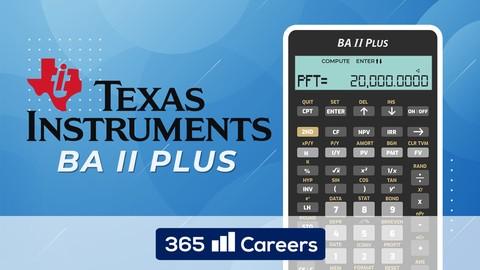 Texas Instruments BA II Financial Calculator for CFA and FRM