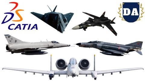 Catia Uçak Tasarımları Eğitimi ! Toplamda 5 Uçak + Bonus !