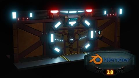 Blender 2.8 3D Model a Sci-fi Scene with Eevee