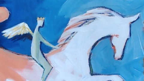 Acrylic Painting with Diamond: the Horse Impressionism