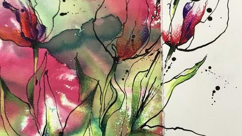 Zeichnen und Malen.  Teil 1 . Kreative Kompositionen