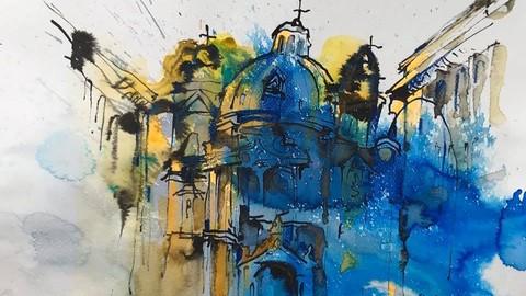 Zeichnen und Malen. Teil 2. Stadt Landschaft
