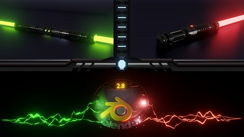 Blender 2.8 3D Model a Lightsaber for Beginners