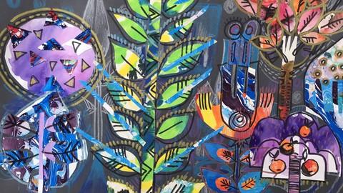 Kreative Collage. Zauber Welt