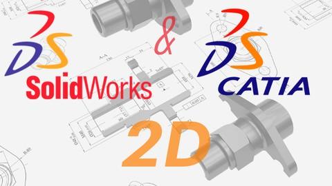 Solidworks / Catia Eğitim 2D Çizim Alıştırması