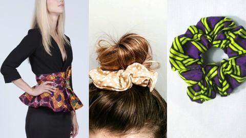 How to sew a peplum waist belt and a scrunchy hair band