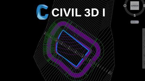 Autocad Civil 3D I Puntos Curvas Parcelas Plataformas