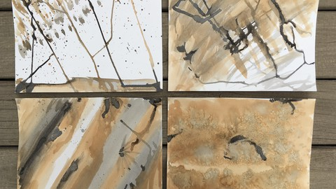 Create Beautiful Backgrounds with India Ink and Tea