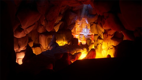 Creating Stylized Lava Cave Game Environment