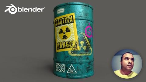 Blender, Substance Painter e Unreal Engine Assets para Game