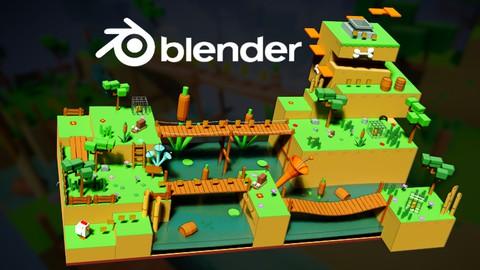 Modélisation d'environnements 3D de jeux vidéo avec Blender