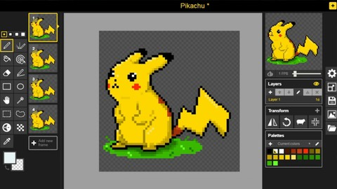 Aprenda Pixel Art com passos Simples no Piskel