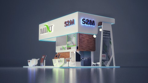 Total Architectural visualization/booth designs with Blender