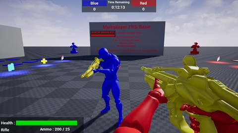Unreal Engine 4 - Multiplayer Team Based FPS In Blueprints