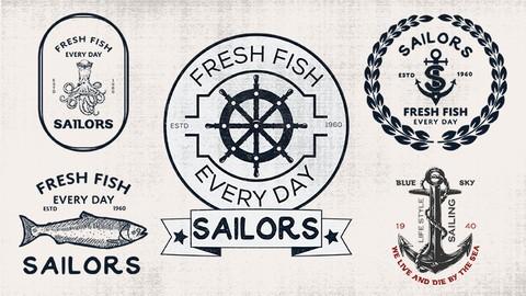 Retro Vintage Logo Design From Concept to Presentation