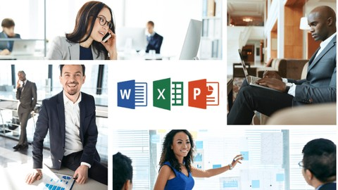 Microsoft EXCEL, POWERPOINT, WORD And Windows 10. 4-in-1