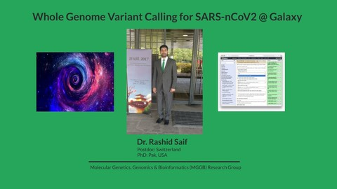 Whole Genome Variant Calling @ Galaxy
