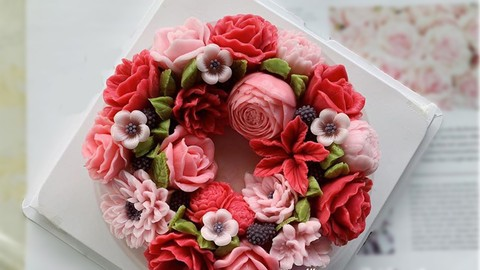 How to make flower jelly cake.