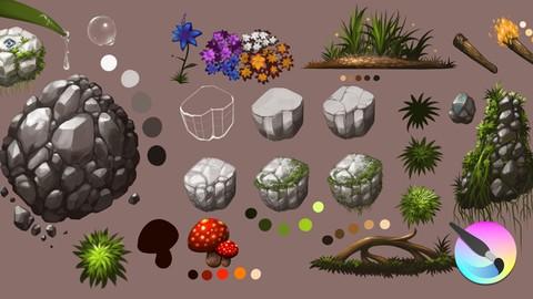 Concept Environment Art Using Krita