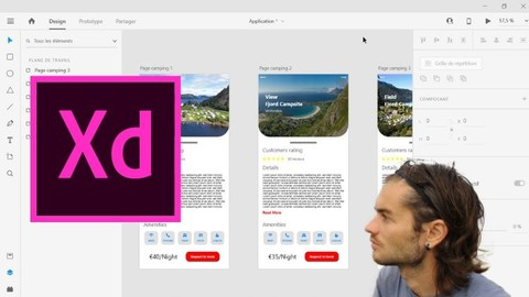 Adobe XD create prototypes mobile application and web design