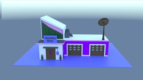Cinema 4D Creating Grocery Store for Beginner (2020)