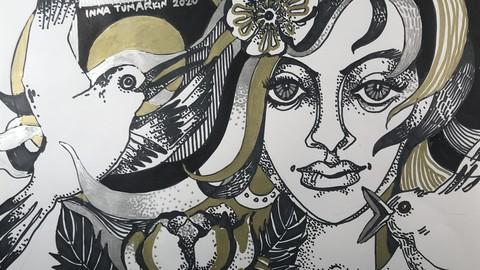 Grafik und Illustration. Teil 3. künstlerische Komposition.