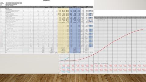 Valorizaciones de Obra en excel y curva S
