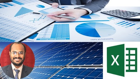 Financial Modeling of Solar Plant in Premium Excel Sheets