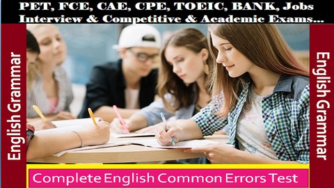 Complete English Common Errors Practice Test for all Exams