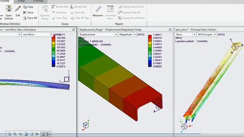 Finite elements analysis - design and simulation