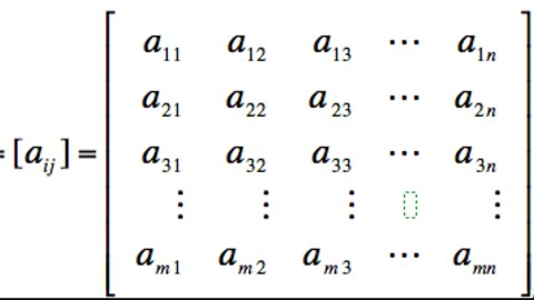 Matrices: Learn the basic of linear algebra