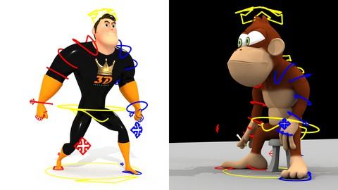 Rigging de personajes 3D fácil y rápido con Maya 2020