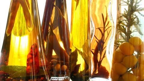 Azeites e vinagres aromáticos