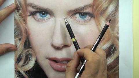 Nicole Kidman Portrait Drawing