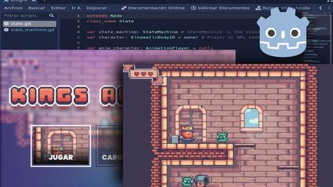 Desarrollo de videojuegos con Godot Engine: Kings and Pigs