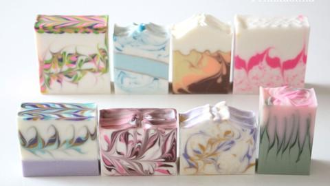 ハンガースワール石けん講座初級編 Hanger Swirl Soap Course Beginner's Edition