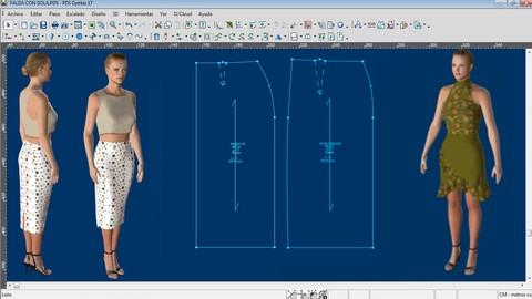Aprende a desarrollar el patrón de falda en OPTITEX