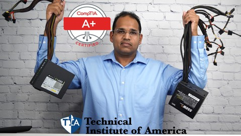 CompTIA A+ 220-1001 Core 1 Lab Course with Simulations/PBQ's