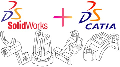 Catia + Solidworks 3D Çizim Alışstırmaları