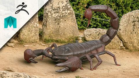 Hyper Realistic 3D Scorpion... Model, Sculpt, Texture & Rig