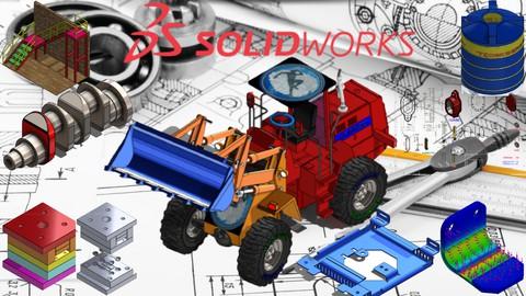 SolidWorks 2021 3D Uygulamalı Örnek Çizimler