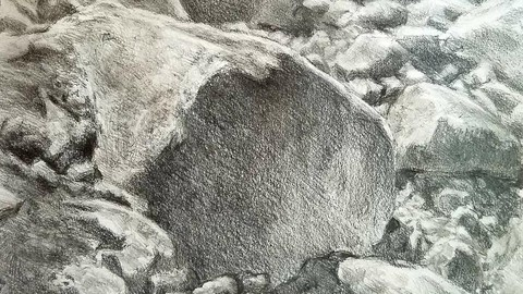 Landscape Drawing, How to Draw Rocks
